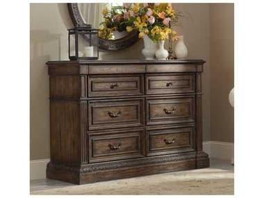 Hooker Furniture Rhapsody Rustic Walnut 61''W x 22''D Rectangular Media Chest HOO507090117