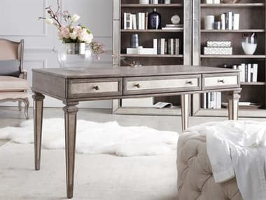 Hooker Furniture Rustic Glam Light Wood 54''L x 29''W Rectangular Writing Desk HOO164110458LTWD