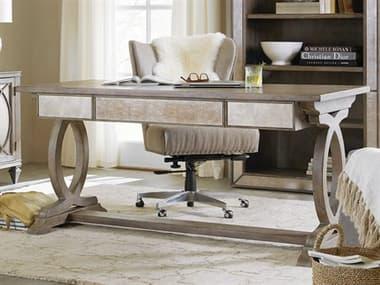 Hooker Furniture Rustic Glam Light Wood 64''L x 30''W Rectangular Trestle Secretary Desk HOO164110459LTWD