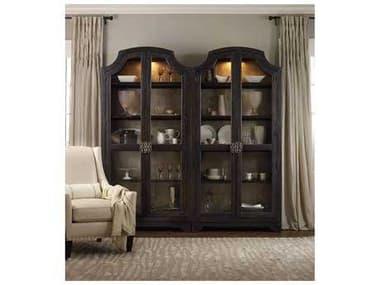 Hooker Furniture Sanctuary Sanctuary Glass Bunching Curio-Ebony Antiqued Oak HOO303150001