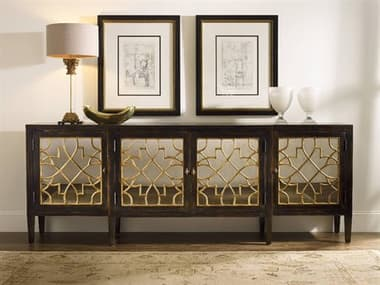 Hooker Furniture Sanctuary Ebony with Mirrored 105''L x 20''W Rectangular Buffet HOO300585005