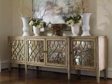 Hooker Furniture Sanctuary Surf & Visage 105''L x 20''W Rectangular Mirrored Console Buffet HOO301385001