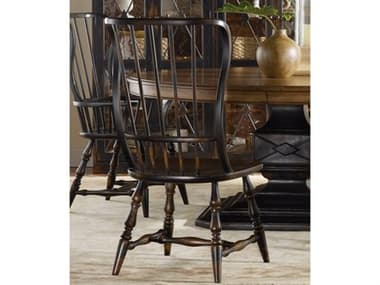 Hooker Furniture Sanctuary Ebony - A Hand-rubbed Black To Provide Drama And Contrast Side Dining Chair HOO300575310