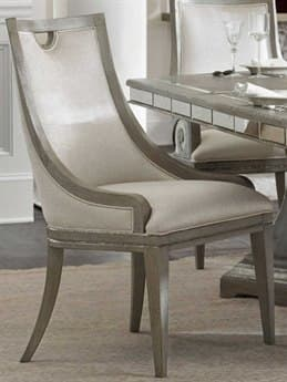 Hooker Furniture Sanctuary Greige With Shimmer On Oak Side Dining Chair HOO560375410LTBR