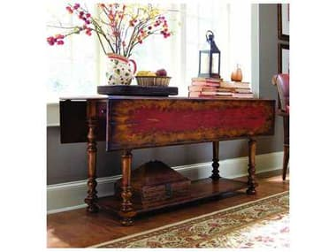 Hooker Furniture Vicenza Reds 66''L x 45''W Rectangular Drop Leaf Console Table HOO97850001