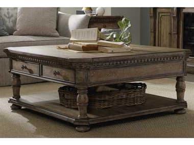 Hooker Furniture Sorella Taupe Antique 47''L x 46''W Rectangular Cocktail Table HOO510780110