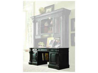 Hooker Furniture Telluride Black Finish With Reddish Brown Rub-through Credenza Desk HOO37010464