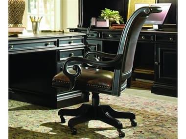 Hooker Furniture Telluride Black with Reddish Brown Executive Swivel Chair HOO37030220