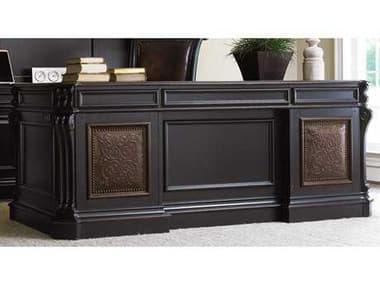 Hooker Furniture Telluride Black with Reddish Brown Ruh Executive Desk HOO37010363