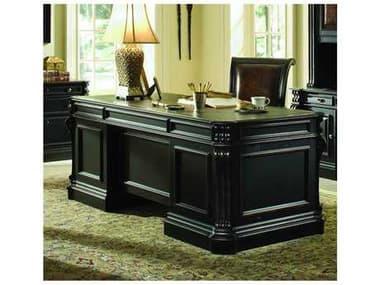 Hooker Furniture Telluride Black with Reddish Brown 76''L x 36''W Rectangular Executive Desk HOO37010563