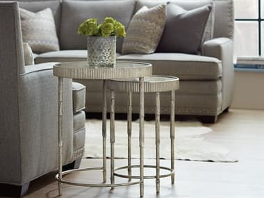 Hooker Furniture Silver 20'' Wide Round Nesting Table HOO559450001SLV