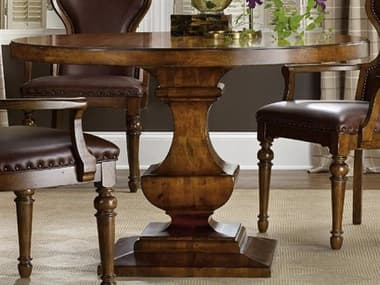 Hooker Furniture Tynecastle Medium Wood 48'' Wide Round Pedestal Dining Table HOO532375203
