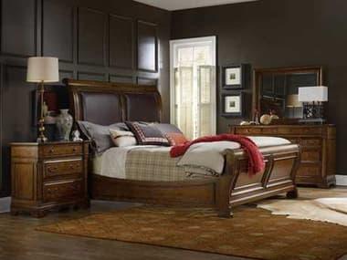 Hooker Furniture Tynecastle Leather Sleigh Bed Bedroom Set HOO532390450SET