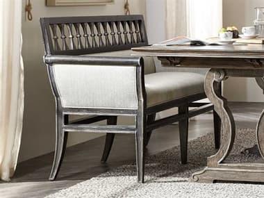 Hooker Furniture Woodlands Smoked Herringbone / Black Banquette Bench HOO58205000798