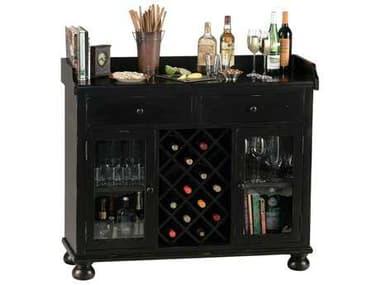 Howard Miller Cabernet Hills Worn Black Wine & Bar Cabinet HOW695002