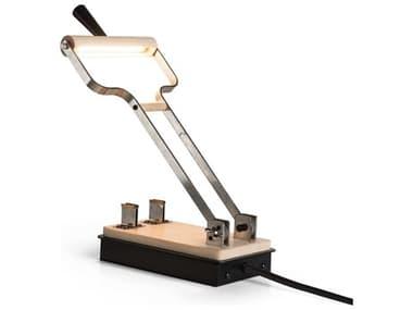 Hubbardton Forge Old Sparky Black / Maple Wood LED Desk Lamp HBF289465