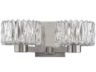 Hudson Valley Lighting Anson Satin Nickel 2 Glass Vanity Light HV2172SN
