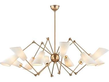 Hudson Valley Lighting Buckingham Aged Brass 12 54'' Wide Large Chandelier HV5312AGB