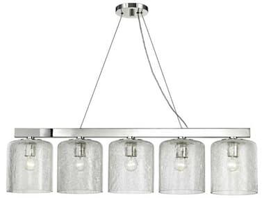 Hudson Valley Lighting Charles Polished Nickel 5 40'' Wide Glass Island Light HV3240PN