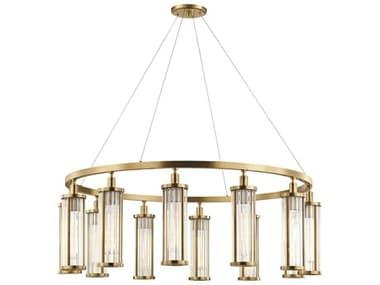 Hudson Valley Lighting Marley Aged Brass 12 42'' Wide Glass Large Chandelier HV9142AGB