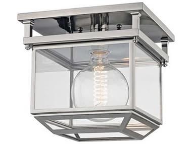 Hudson Valley Lighting Rutherford Polished Nickel 1 10'' Wide Glass Semi-Flush Mount HV5611PN