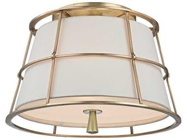 Hudson Valley Lighting Savona Aged Brass 2 14'' Wide Semi-Flush Mount HV9814AGB