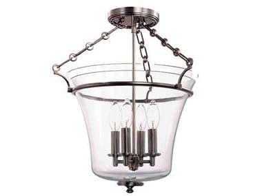 Hudson Valley Lighting Timeless Elegance 15 Wide Glass Semi-Flush Mount HV832