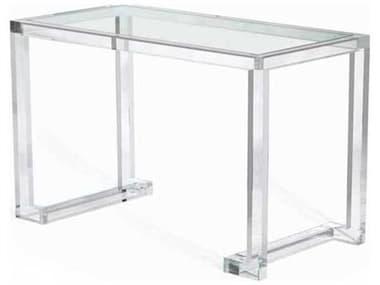 Interlude Home Clear/ Clear Glass Computer Desk IL195007