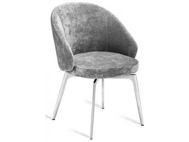 Interlude Home Ocean Grey/ Polished Nickel Arm Dining Chair IL148134