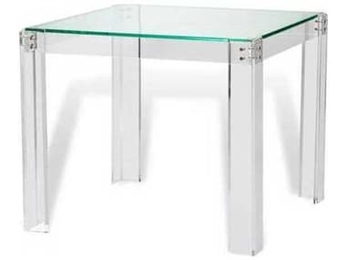 Interlude Home Clear/ Clear Glass/ Shiny Silver Game Table IL118085