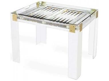 Interlude Home Clear/ Shiny Brass/ Silver Game Table IL165081