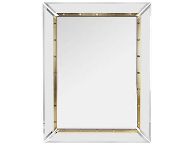 Interlude Home Holden Clear / Brushed Brass 36''W x 47''H Rectangular Wall Mirror IL318044
