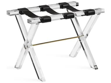 Interlude Home Clear / Shiny Brass / Black Luggage Rack IL445021
