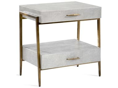 Interlude Home Morand Grey 26'' x 18'' Rectangular Bedside Chest IL188070
