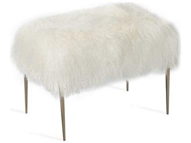 Interlude Home Stiletto Ivory Sheepskin Stool IL175148