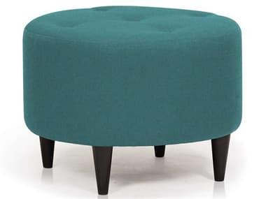 ION Design Parry Velour Turquoise / Espresso Ottoman IDP30310