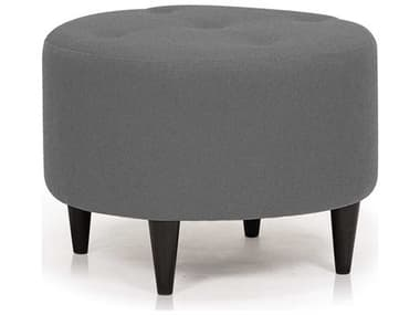 ION Design Parry Velour Slate / Espresso Ottoman IDP32968