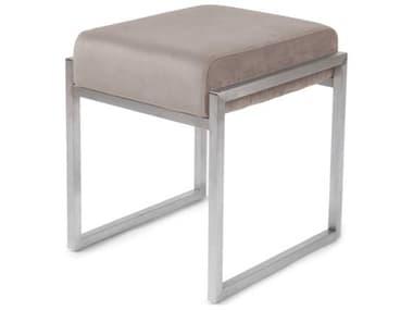ION Design Scranton Velvet Blush / Brushed Stainless Steel Accent Stool IDP30720
