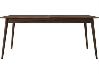 ION Design Vintage Black Walnut 71''-91'' Wide Rectangular Dining Table IDP14248