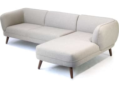 ION Design Visby Stone Grey / Natural Walnut Right Hand Facing Sectional Sofa IDP31631