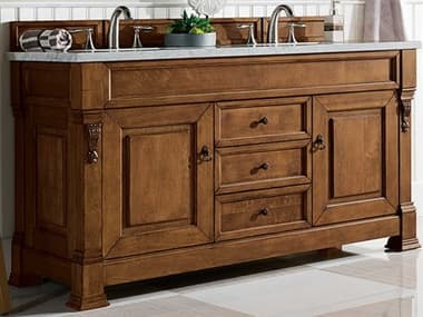 James Martin Furniture Brookfield Country Oak 60'' Wide Double Vanity JS1471145671