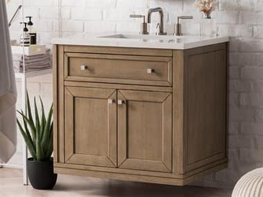 James Martin Furniture Chicago White Washed Walnut 30'' Wide Single Vanity JS305V30WWW