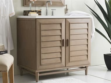 James Martin Furniture Portland White Washed Walnut 36'' Wide Single Vanity JS620V36WW
