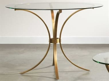 Jamie Young Company Antique Brass 43'' Wide Round Dining Table JYC20CRITTLAB