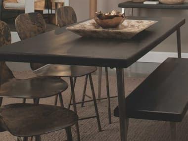 Jamie Young Company Farmhouse Dark Wood / Antique Silver Legs 72'' Wide Rectangular Dining Table JYC20FARMDTDW