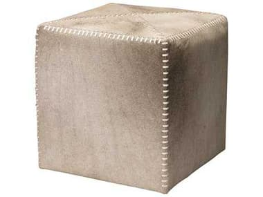 Jamie Young Company Small Gray Hide Ottoman JYC20OTTOSMGR