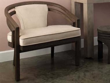 Jamie Young Company London Dark Wood / Cream Accent Chair JYC20LONDCRDW