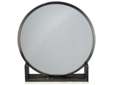Jamie Young Company Odyssey Antique Iron & Marble 24'' Wide Round Dresser Mirror JYC7ODYSMIAI