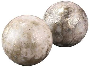 Jamie Young Company Orion Orb Silver & Gold Bookends (Set  of 2) JYC7ORBBESG