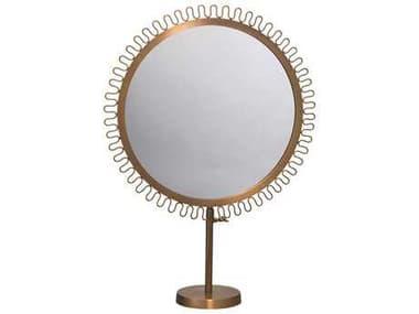 Jamie Young Company 22''W x 31-37.5''H Sunburst Standing Brass Mirror JYC7SUNBMIBR